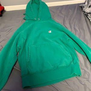 Champion Reverse Weave Hoodie - Green